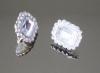 BL-200 gemelli in metallo colore nikel con pietra e strass crist