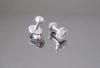 BL-308 gemelli in metallo colore nikel con pietra cristallo
